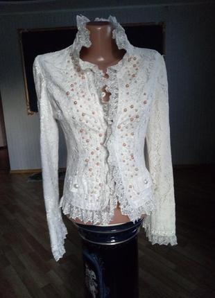 Ажурный гипюровый пиджак