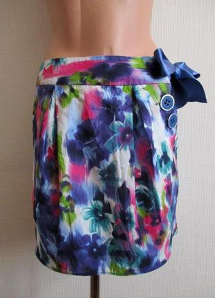 Натуральная хлопковая юбка be beau matalan