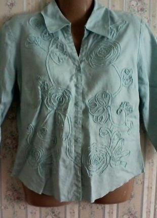 Блуза пиджак лен, разм. 48-50