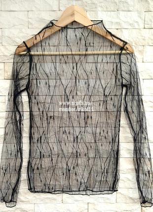 Хит! эффектная прозрачная кофточка сетка гольф сетка водолазка блузка блуза3 фото