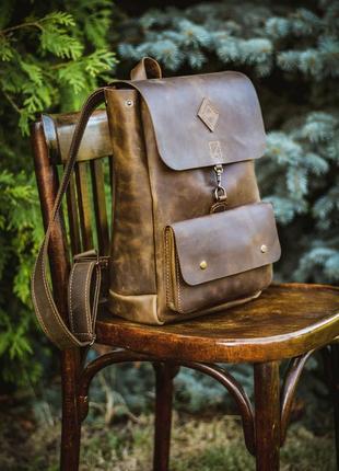 Кожаный рюкзак ручной работы. эксклюзив!