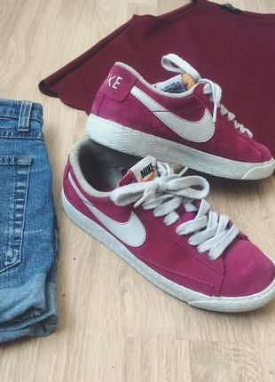Кеды nike blazer бордовые кроссовки nike марсала
