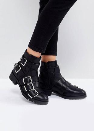 Кожаные ботинки asos с ремешками