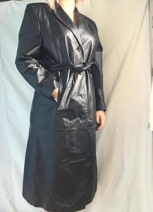 Пальто кожаное for woman   14-16