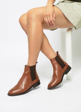 Челси ботинки asos кожа