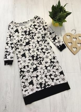 Стильное платье с длинным рукавом,цветочный принт,l-xl