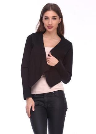 Стильный жакет пиджак кардиган чёрный