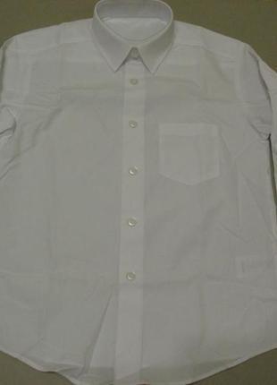 Новая школьная рубашка белая, 7-8 лет, рост 122-128, george, англия