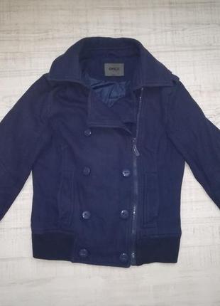 Класна куртка- пальто only. вовна. шерсть