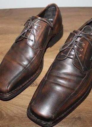 Итальянские кожаные туфли  с амортизацией bugatti, 43 размер
