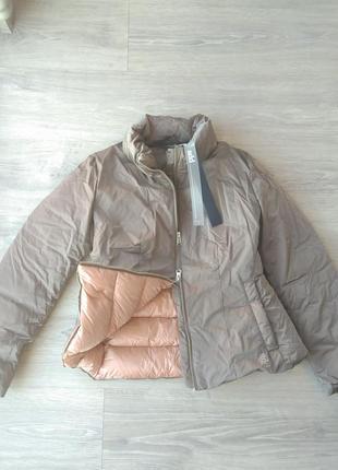 Шикарный пуховик итальянского бренда add куртка. it42 (xs-s). беж/нюд перламутр