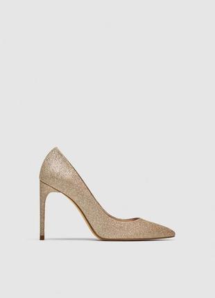 Туфли на каблуке-шпильке от zara