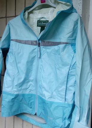 Американская куртка- дождевик l.l.bean небесно- голубого цвета