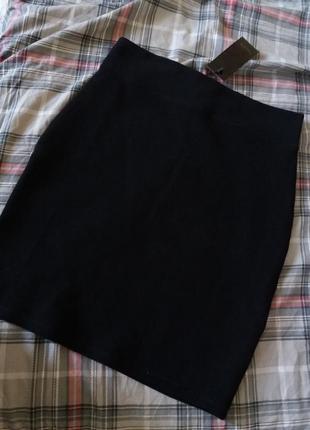 Черная юбка, юбка карандаш