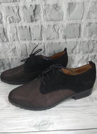 Туфли дерби caprice кожа мягкие и легкие германия 38,5 р
