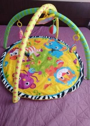 Детский игровой коврик с погремушками в сумке (cary bear)