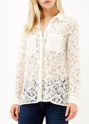 River island кружевная блуза