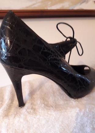 Добртные туфли, кожа, 40, стелька27,, полномерны, на широкую ножку, кабл 10