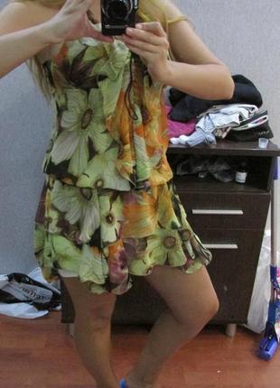 Платье летнее платье шифоновое платье сарафан легкое платье seam платье seam