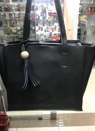 Кожаная сумка сумка кожаная чёрная италия