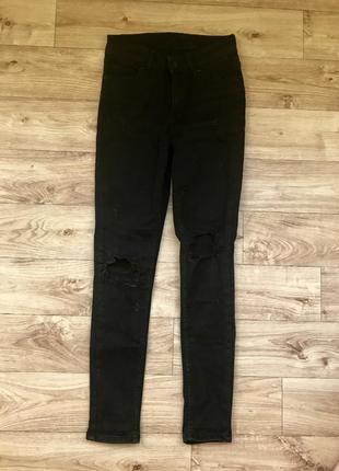 Чёрные джинсы zara