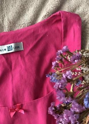 Малиновое платье миди от new look