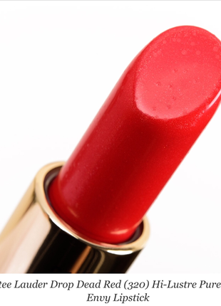 Губна помада estee lauder envy hi-lustre 320 drop dead red, 3.5g нова