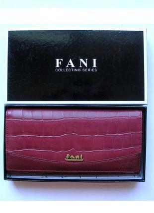 Большой кожаный кошелек крокодил fani, 100% натуральная кожа, доставка бесплатно.