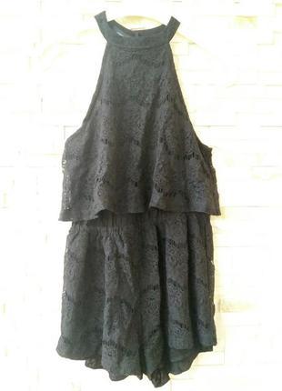 Комбінезон чорний ажурний, розмір м