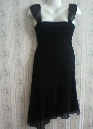 Шелковое коктейльное платье, разм. 40-42