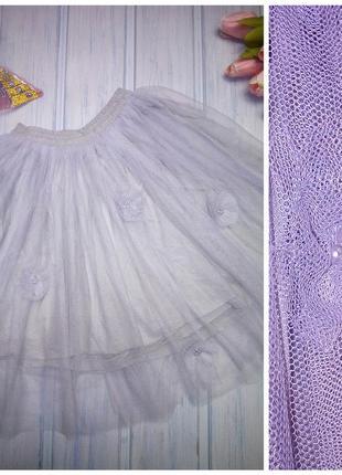 Нарядная воздушная юбка- пачка с обьемными цветами, 98- 104, next