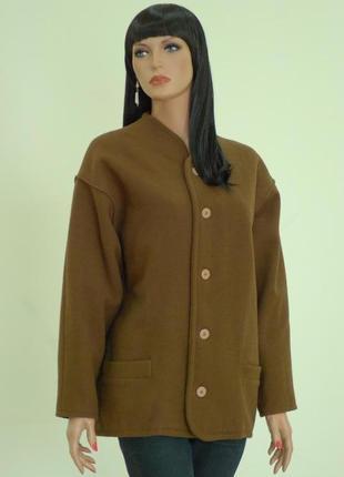 Теплое пальто жакет