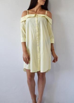 Платье с открытыми плечами atm