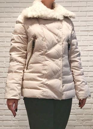Куртка зимняя  snow owl с воротником из козы