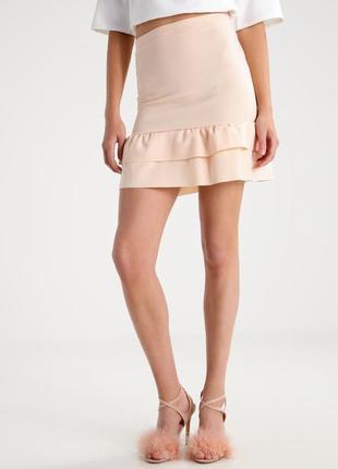 Пудровая мини  юбка missguided