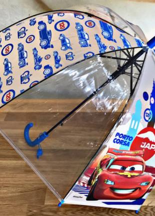 Детский зонт зонтики для мальчиков тачки