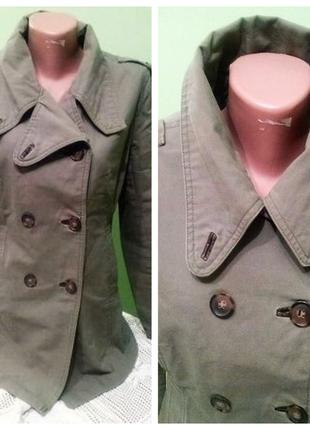 Пиджак хаки в стиле милитари  12 размер