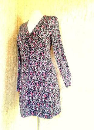 Вискозное платье отрезное под грудью, s-m.2 фото