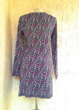 Вискозное платье отрезное под грудью, s-m.3 фото
