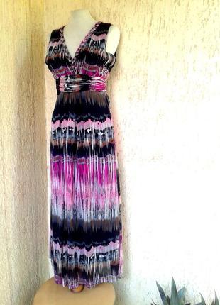 Шифоновое платье- сарафан, м-l.