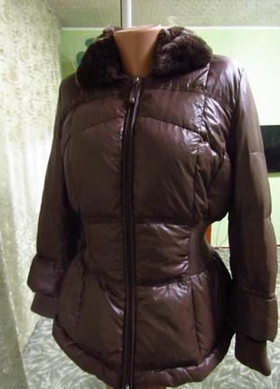 983aec7e Очень теплая куртка (натуральный мех, пух и камни сваровски) от max mara,