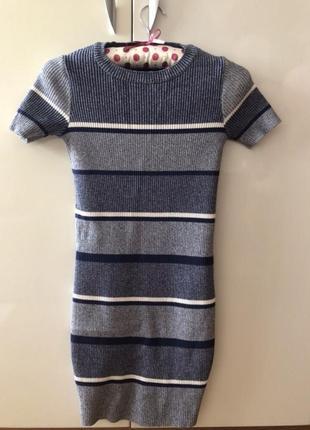 Платье резинка футляр zara xs s оригинал