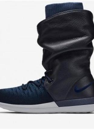 Новые us8,5,9,5 сапоги nike ботинки roshe flyknit кроссовки кожа+ткань