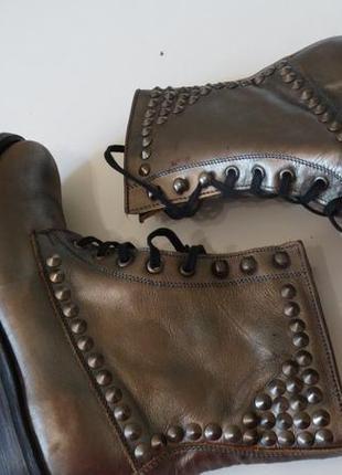 Кожаные демисезонные ботинки ash