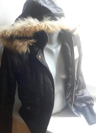 Куртка с натуральным мехом, курточка, пуховик, парка
