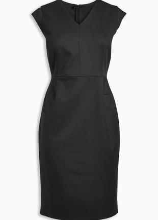 Строгое черное платье next