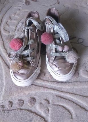 Модные детские кроссовки зара(zara)для девочки 29р цвет под золото