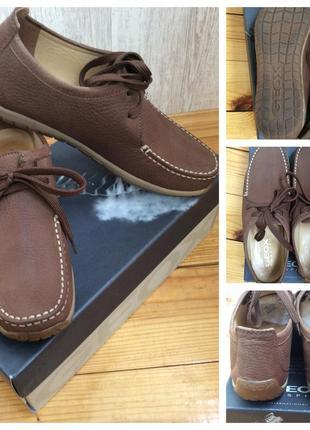 Туфли из нубука geox