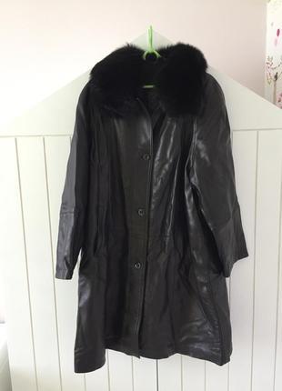 Пальто из натуральной кожи и меха!
