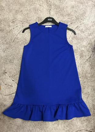 Платье синее короткое reserved